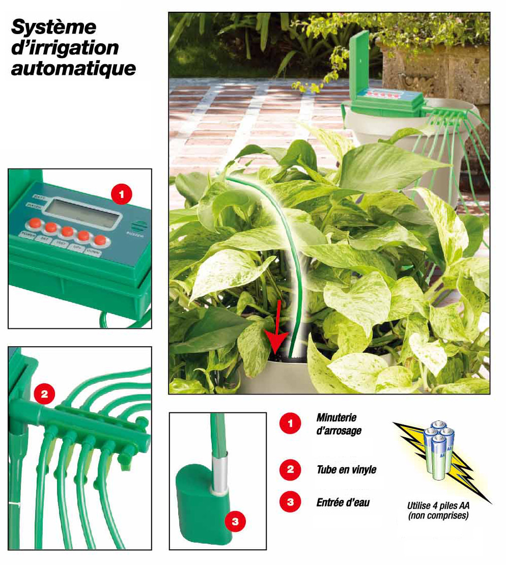 Systeme Arrosage Potager Vacances arrosage automatique sans robinet | jardinage intérieur.fr